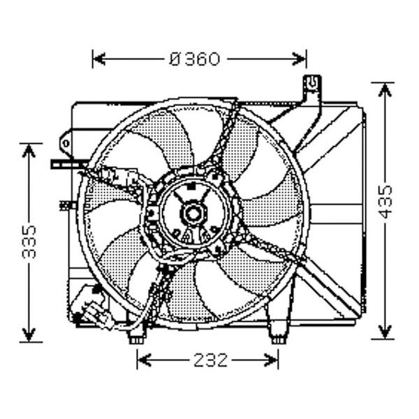 Radiator FAN COMPLEET GETZ 02->> -AC