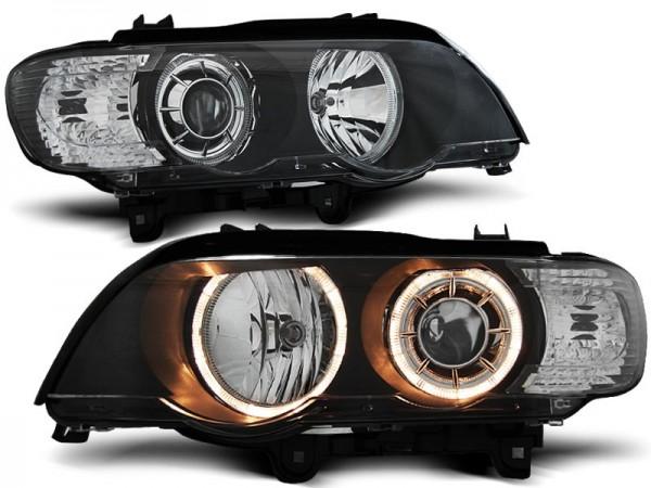 Koplampen BMW X5 E53 Angel Eyes