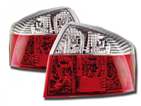 Achterlichten Audi A4 Limousine 01-04 rood/wit