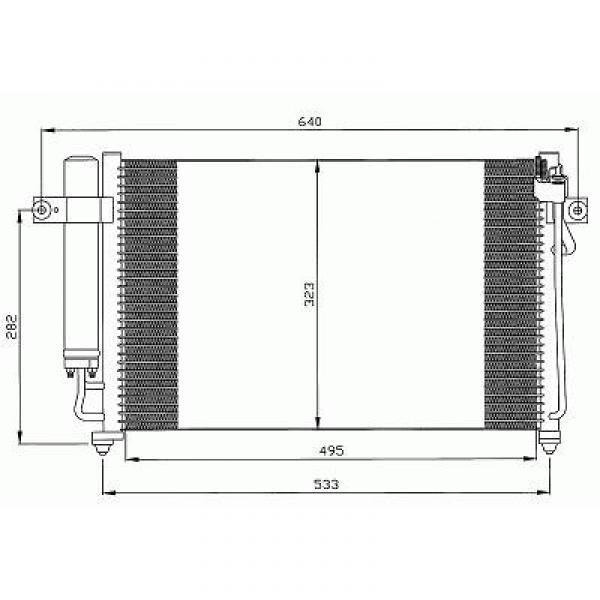 Condensator GETZ 02->> 503x350 1.1/1.3 HANDGESCHAKELT/AUTOMAAT
