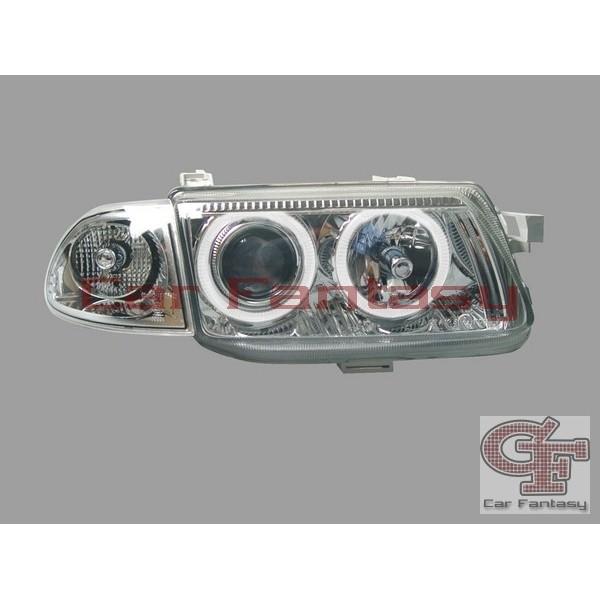 Koplampen Opel Astra F Angel Eyes chroom