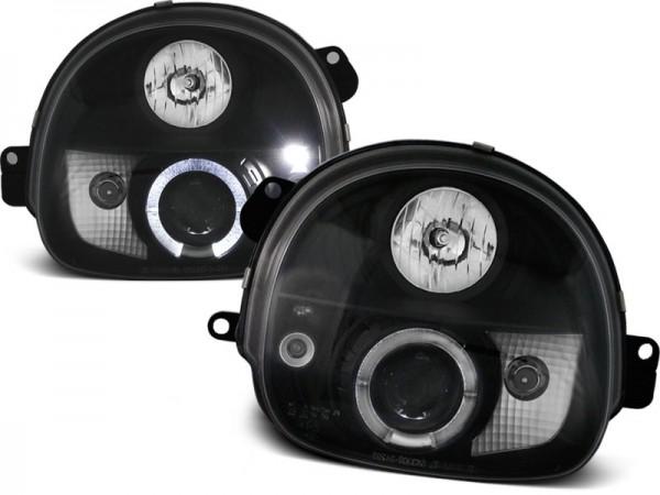 Koplampen Renault Twingo 92-99 Angel eye zwart