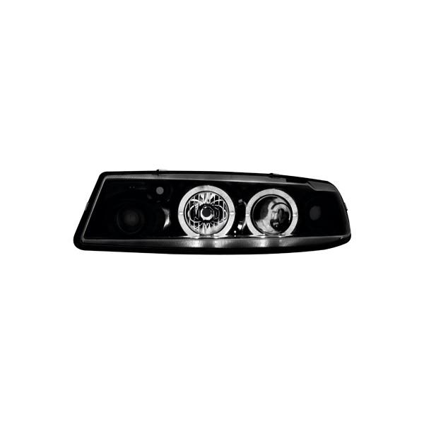 Koplampen Opel Calibra Angel Eyes zwart