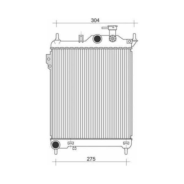 Radiator GETZ 02->> 373x320 ALLEEN 1.1/1.3 +/-AC
