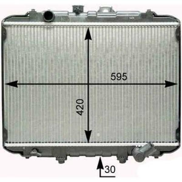 Radiator H100/H150 97-02 400x598 2.5 DIESEL +/-AC