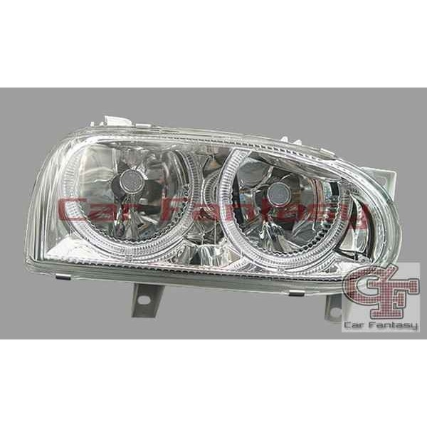 Koplampen VW Golf III Angel Eyes chroom