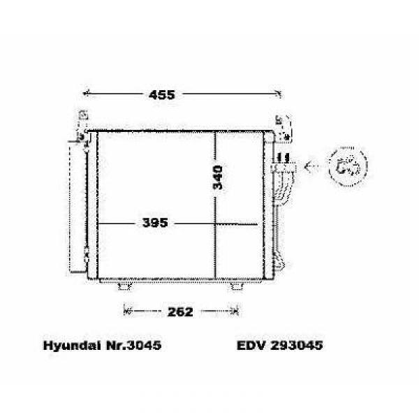 Condensator HYUNDAI I10 07->> 435x340x18 ALLE BENZINE