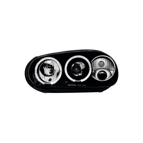Koplampen VW Golf IV Angel Eyes design zwart