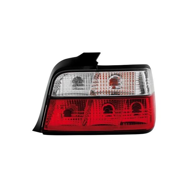 Achterlichten BMW E36 limousime klar Rood/Wit
