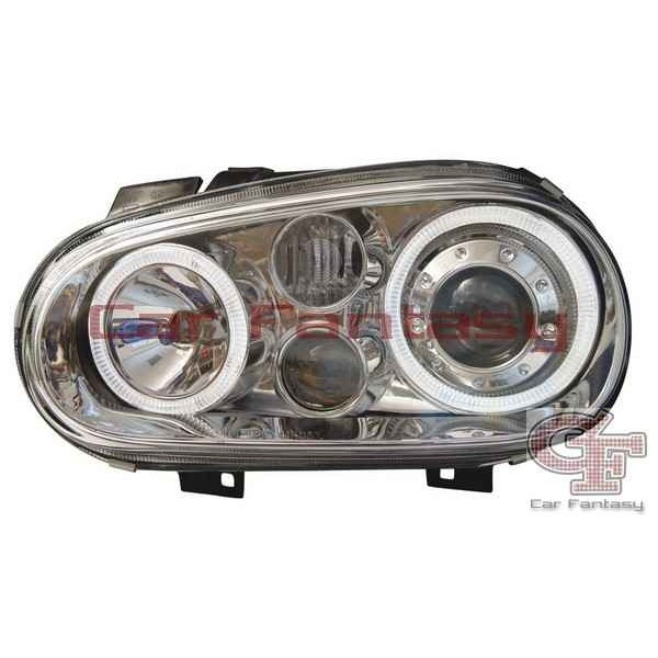 Koplampen VW Golf IV Angel Eyes chroom