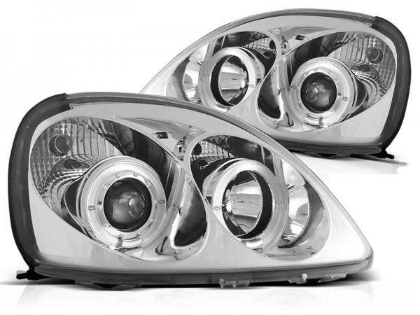 Koplampen Toyota Yaris 98-04 Angel Eyes chroom