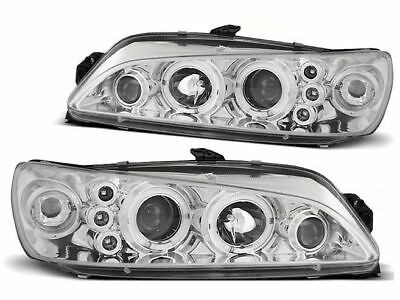 Koplampen Peugeot 306 97-00 Angel Eyes chroom