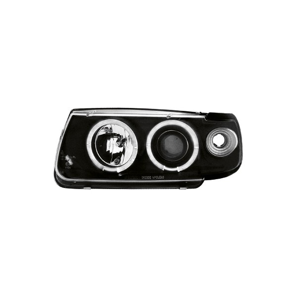 Koplampen VW Polo 6N Angel Eyes Zwart