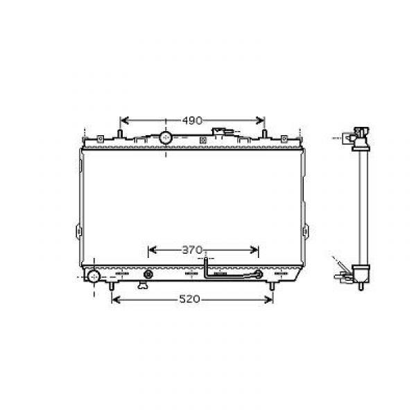 Radiator COUPE II 02-05 375x670 2.0I-16V +/-AC 102/105KW