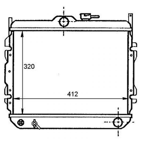Radiator COUPE'LANTRA 95-00 377x670 1.5I/1.6I/1.8I/2.0I