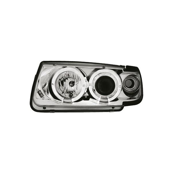 Koplampen VW Polo 6N Angel Eyes chroom