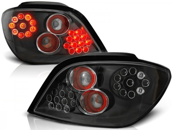 Achterlichten Peugeot 307 LED zwart