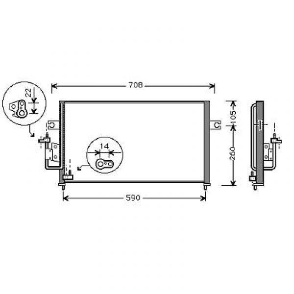 Condensator COUPE 96-02 605x355 TYPE: G#F1.6I-16V2.0I-16V