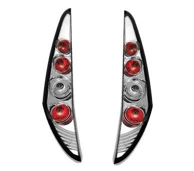 Achterlichten Fiat Punto 99-02, 3 deurs lexus chroom