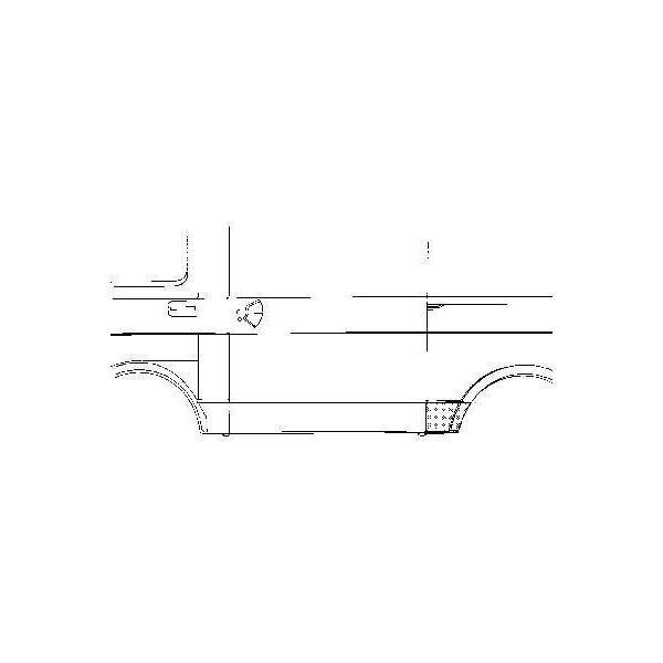 aansluitplaat, voor achterwiel, links VW LT, 1975-1996
