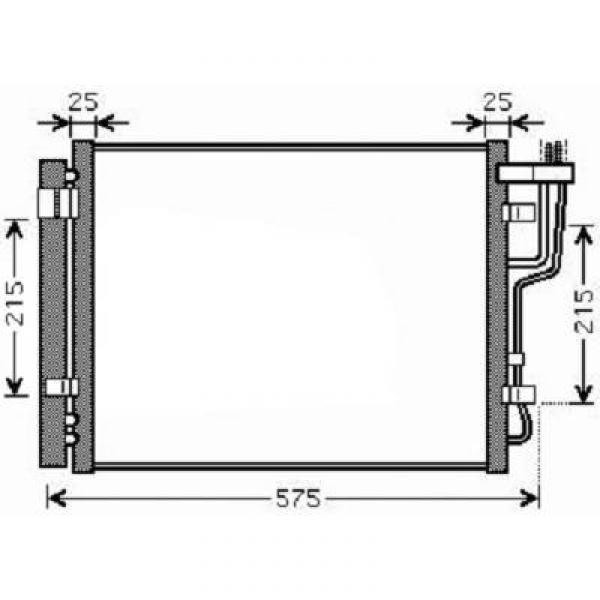Condensator HYUNDAI I30 07->> 475x390x18 ALLE DIESEL