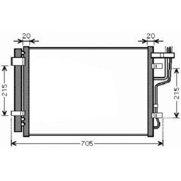 Condensator HYUNDAI I30 07->> 570x380x12 ALLE BENZINE