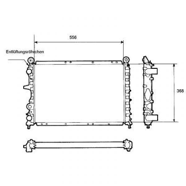 Radiator TIPO/TEMPRA/DEDRA 88-99 554x363x31 1.8I2.0I+16V +/-AC