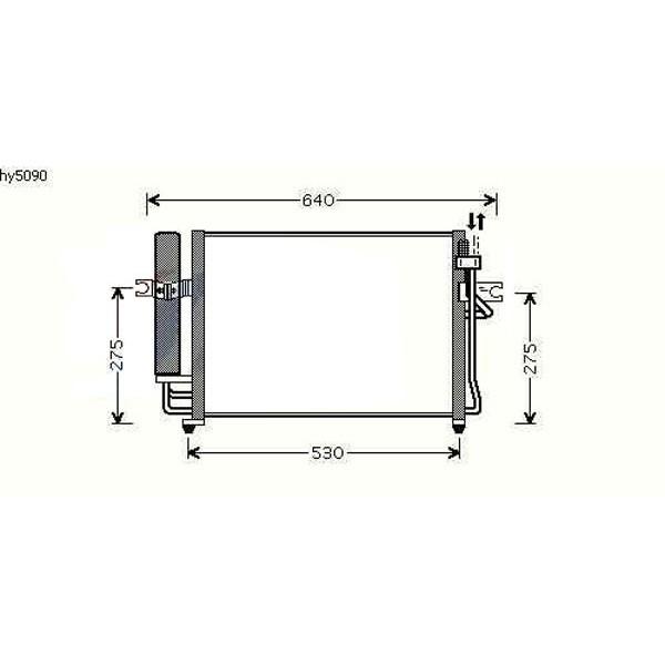 Condensator GETZ 03->> 500x350 1.5CRDI HANDGESCHAKELT/AUTOMAAT M