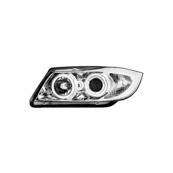 Koplampen BMW 3 serie E90 E91 Angel Eyes chroom
