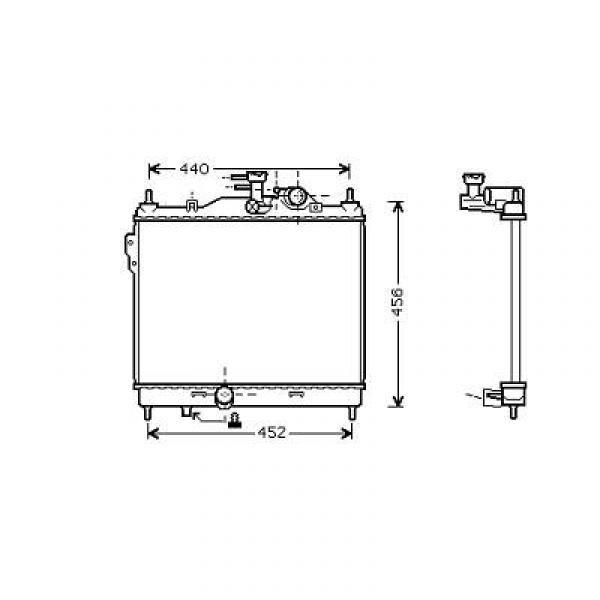 Radiator GETZ 02->> 372x495 1.5 CRDI +/-AC
