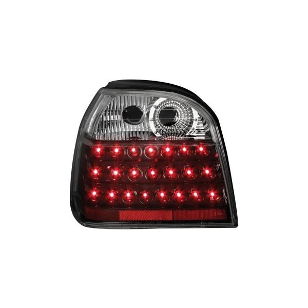 Achterlichten VW Golf III LED chroom zwart