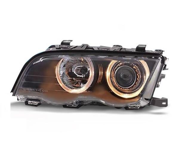 Koplampen BMW E46 Sedan/Touring 98-01 Angel Eyes zwart